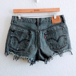 Levi's 501 Button Fly Cut Off Shorts Size 29